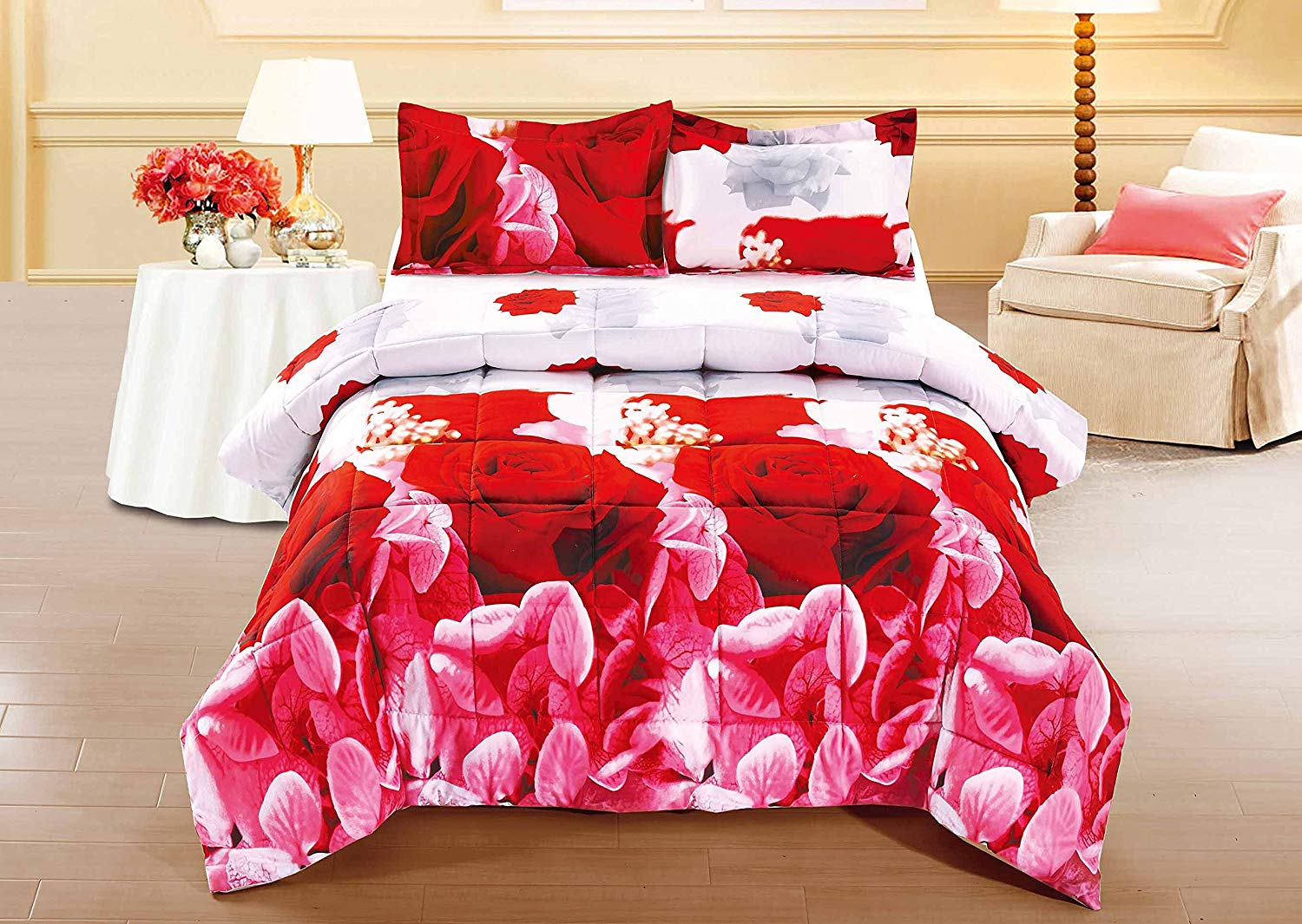 unique home 3 piece set lovely red rose clearance on walmart bedroom furniture clearance id=46906
