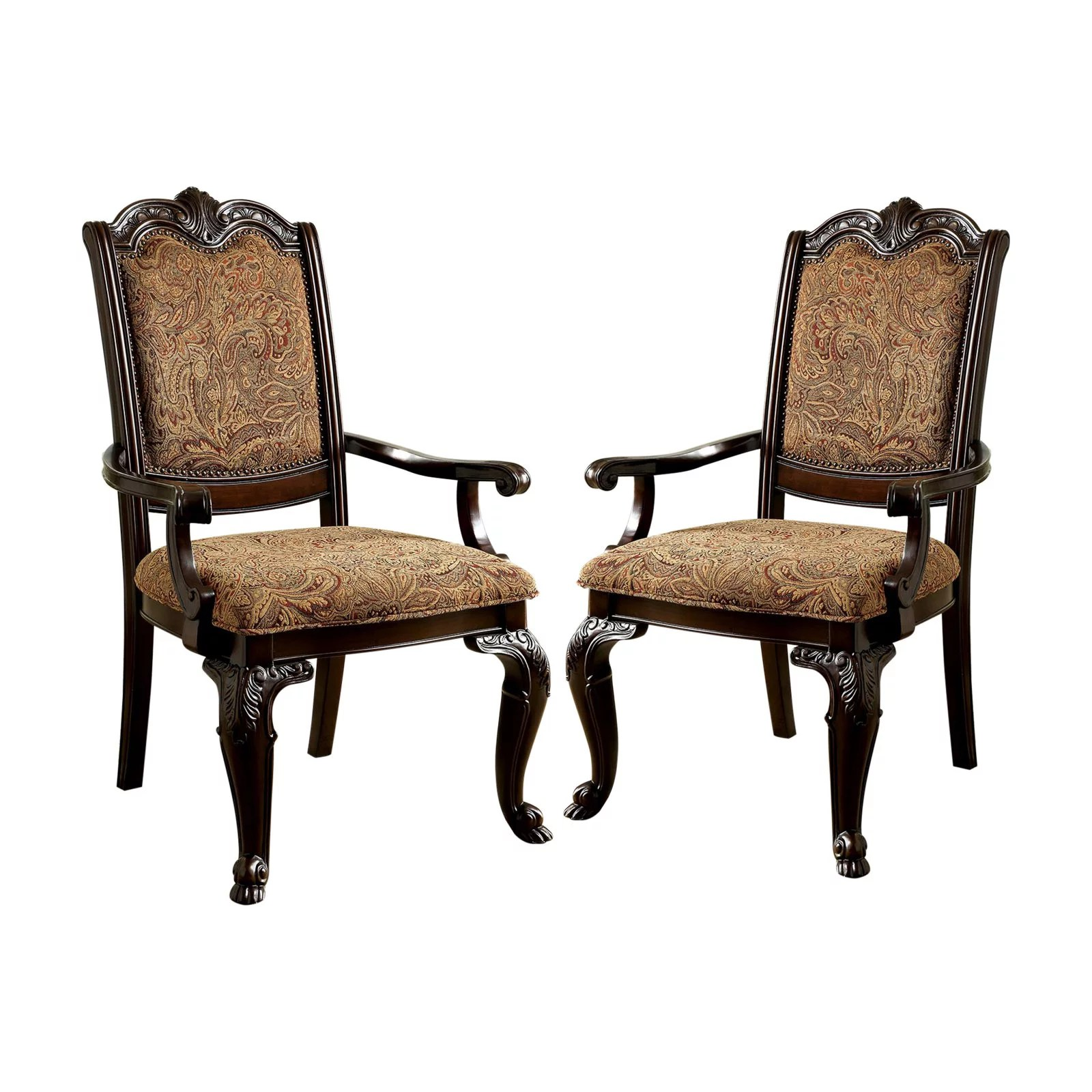 Restore any dining chair in the world. Furniture of America Bershire Fabric Padded Dining Arm ...