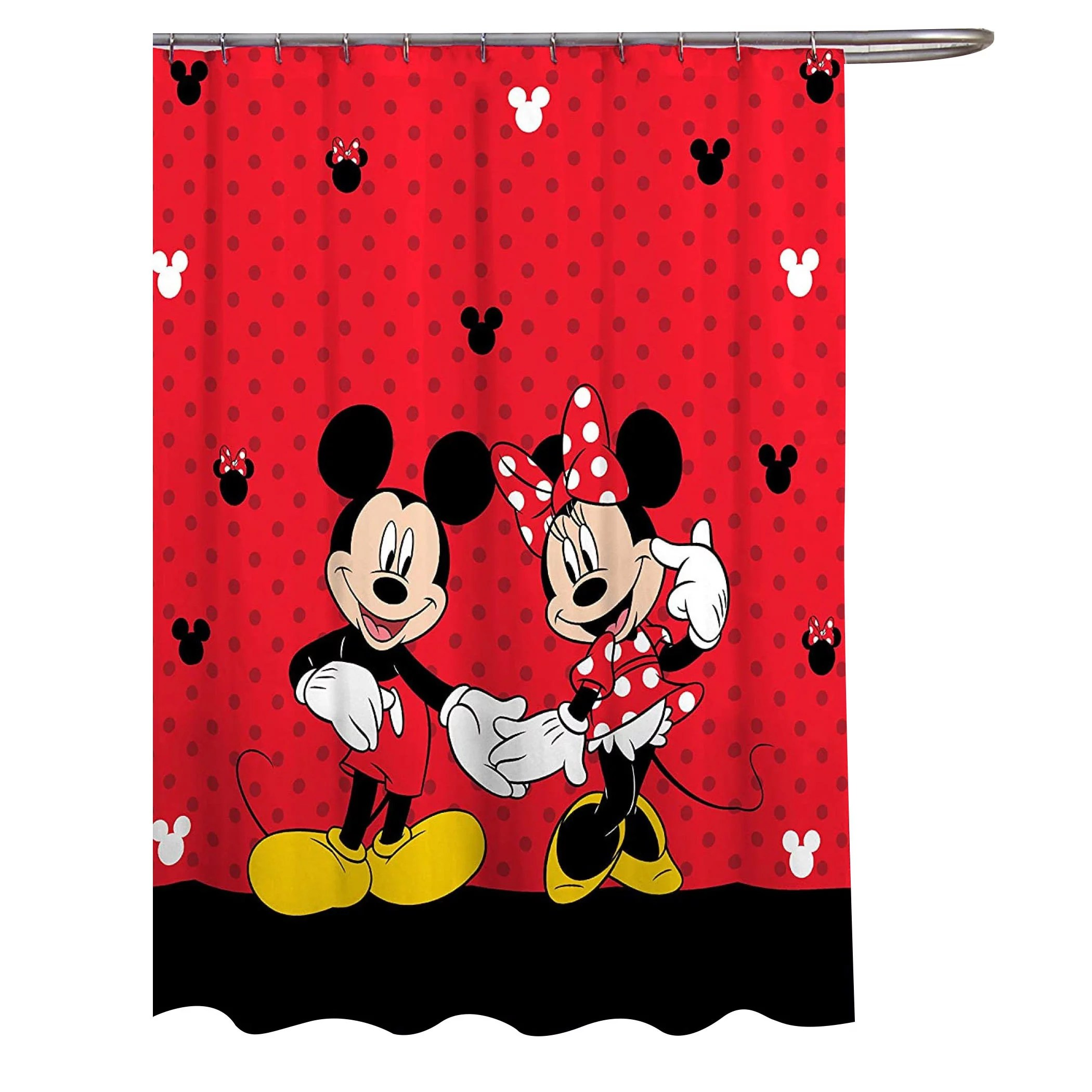 mickey mouse 808098 disney mickey minnie mouse classic shower curtain walmart com