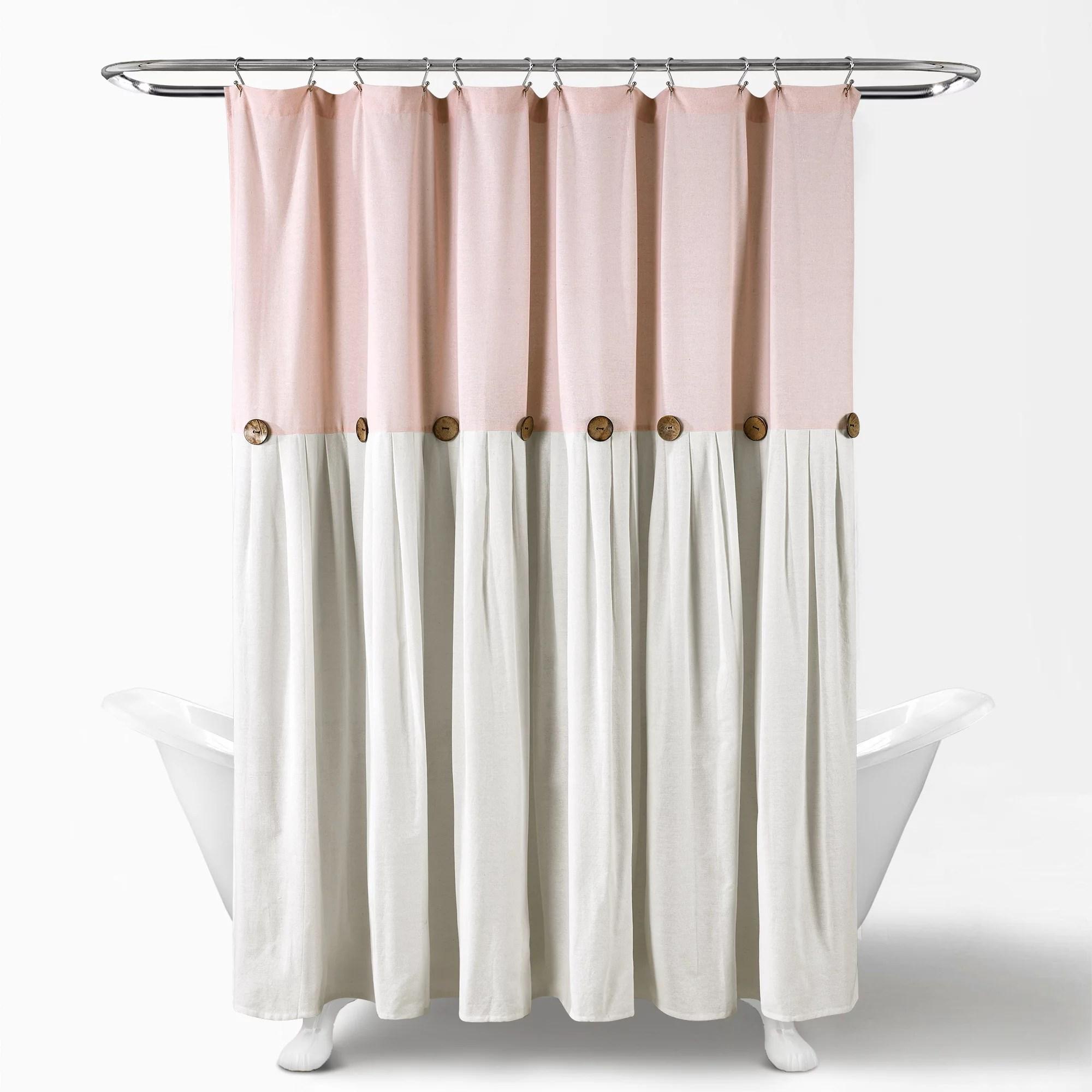 Linen Button Shower Curtain 72x72 Walmart Com
