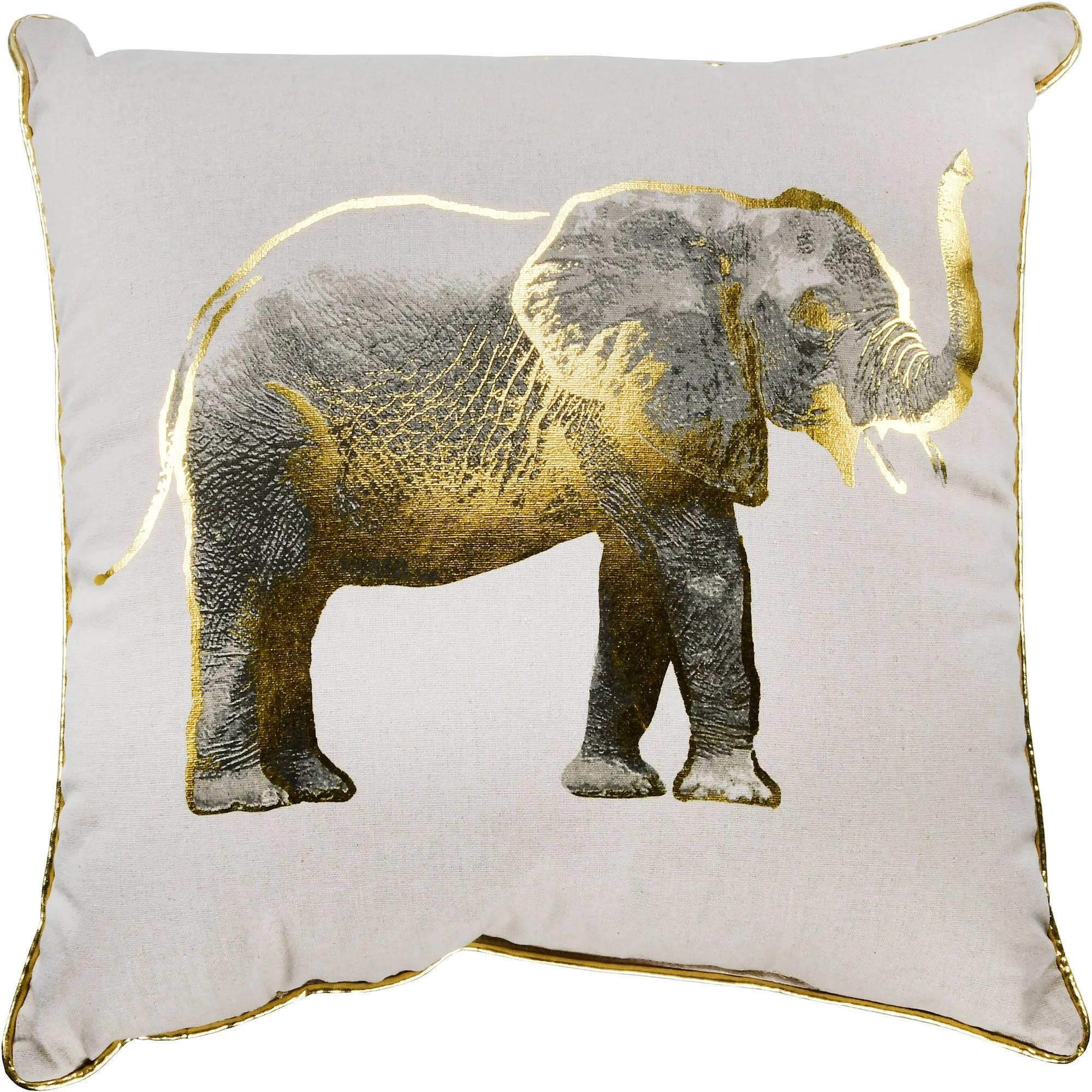 better homes gardens gold elephant decorative throw pillow 18 x 18 walmart com