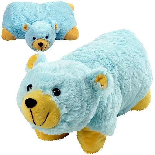 cuddlee pet pillow plush stuffed pillow pet blue bear