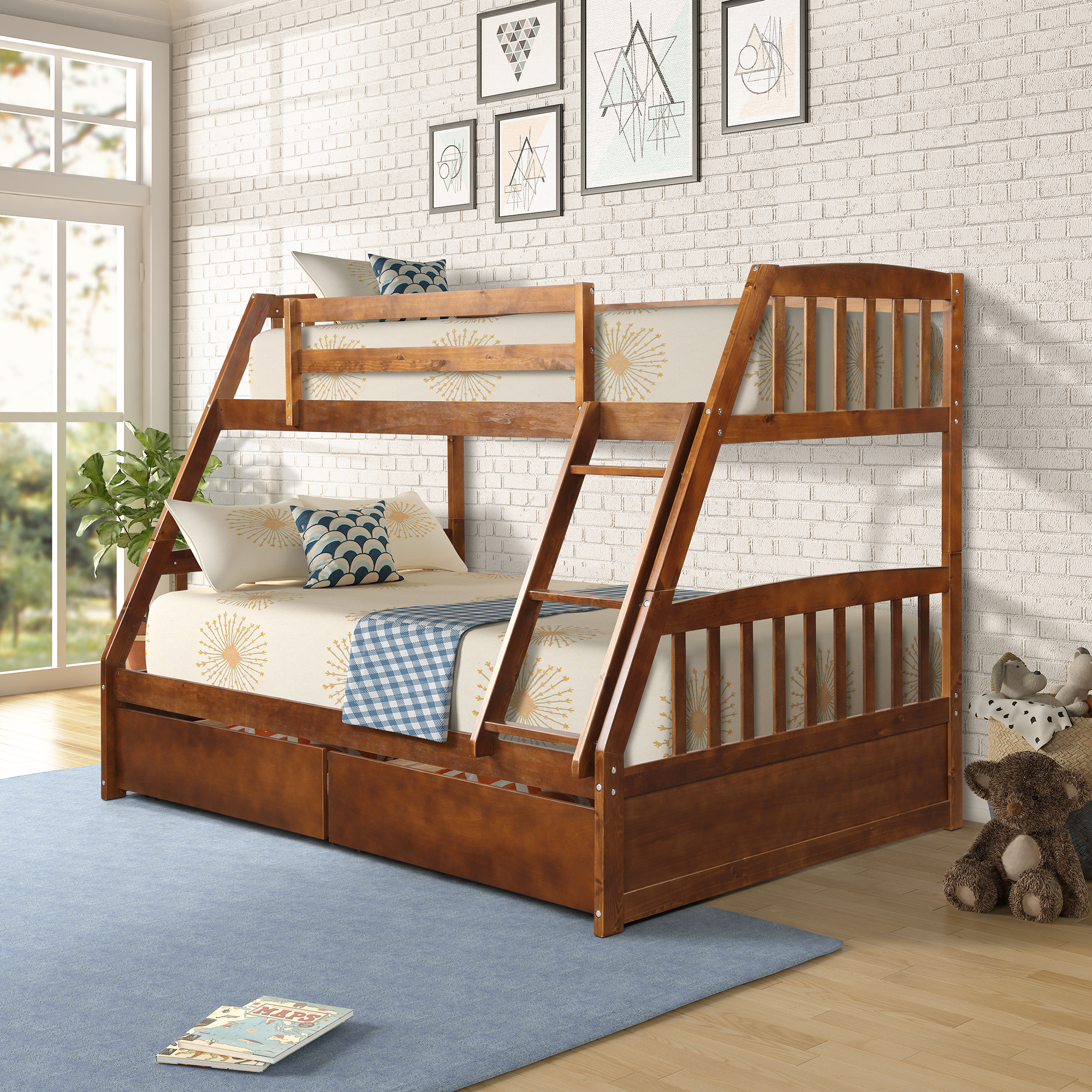 clearance twin over full bunk beds for kids solid wood on walmart bedroom furniture clearance id=85987