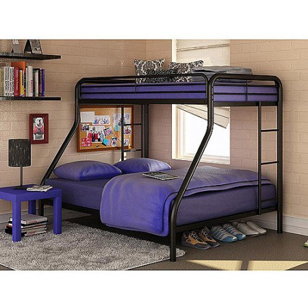 Dorel Twin Over Full Metal Bunk Bed Silver