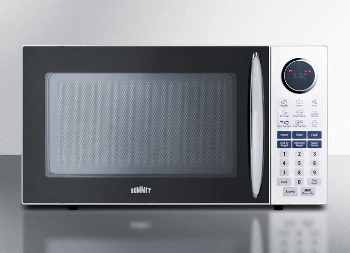 summit sm1102wh 1 cu ft capacity full sized microwave oven with multiple power levels end of cycle ring rotary turntable and one touch auto cook