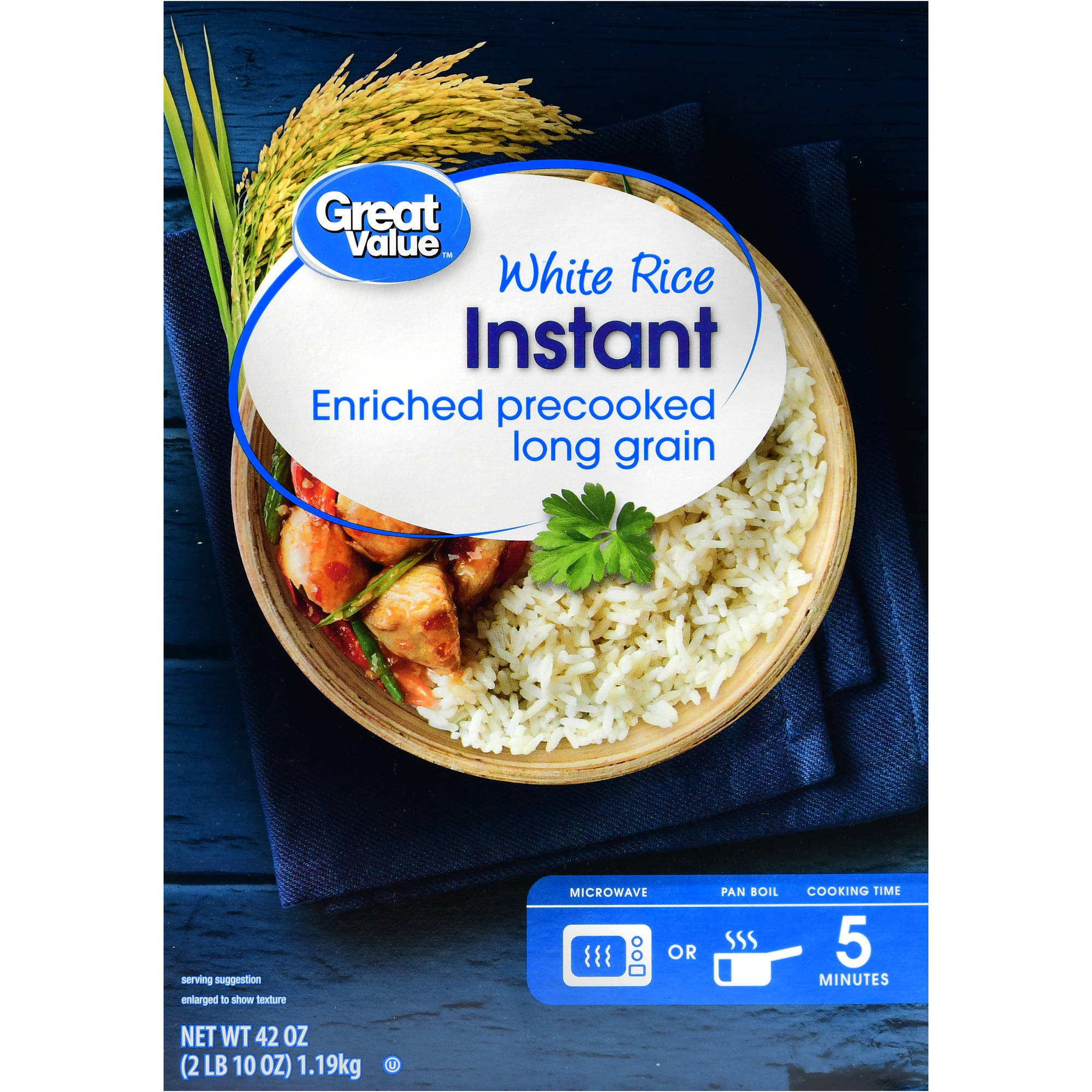 2 pack great value instant white rice 42 oz
