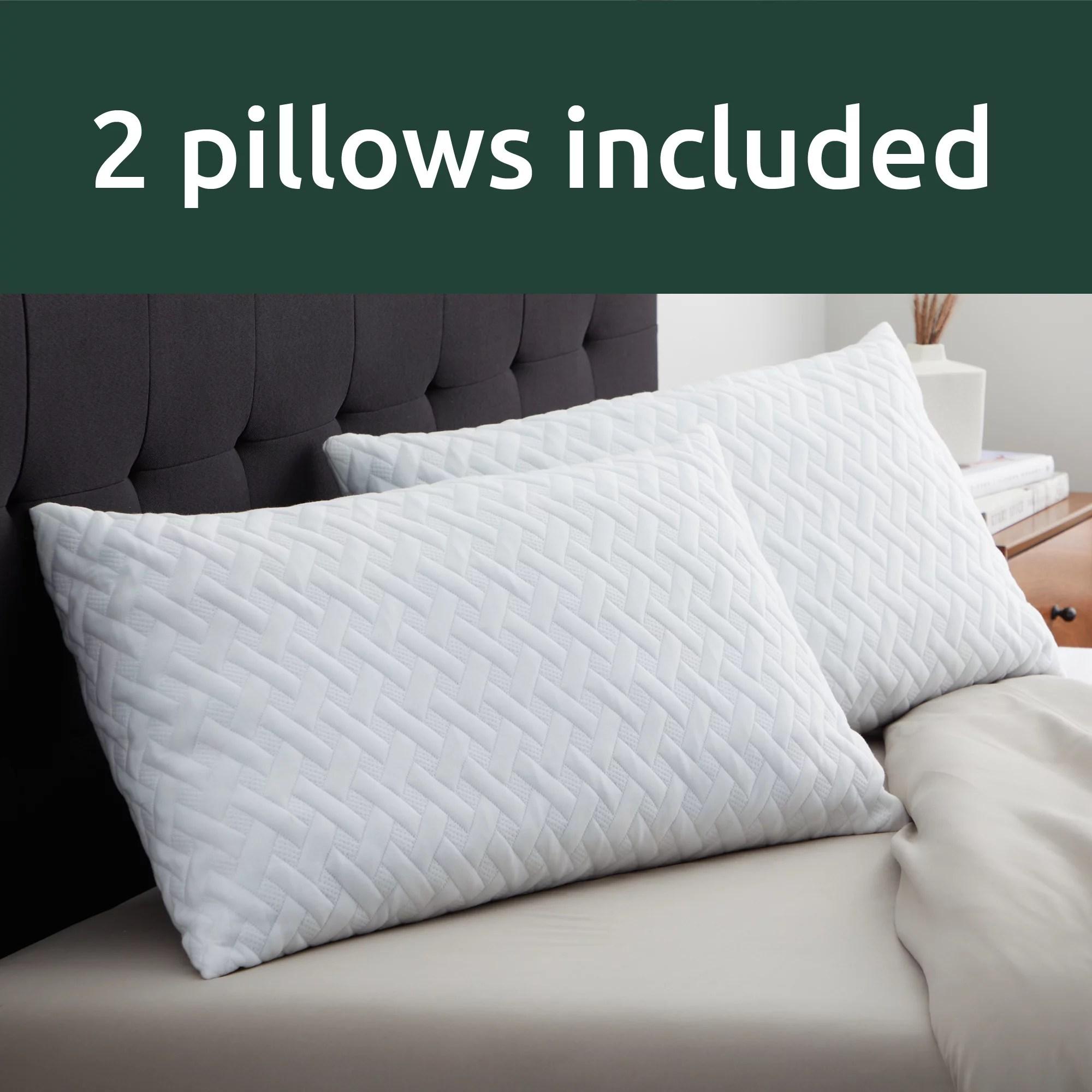 rest haven shredded memory foam pillow 2 pack