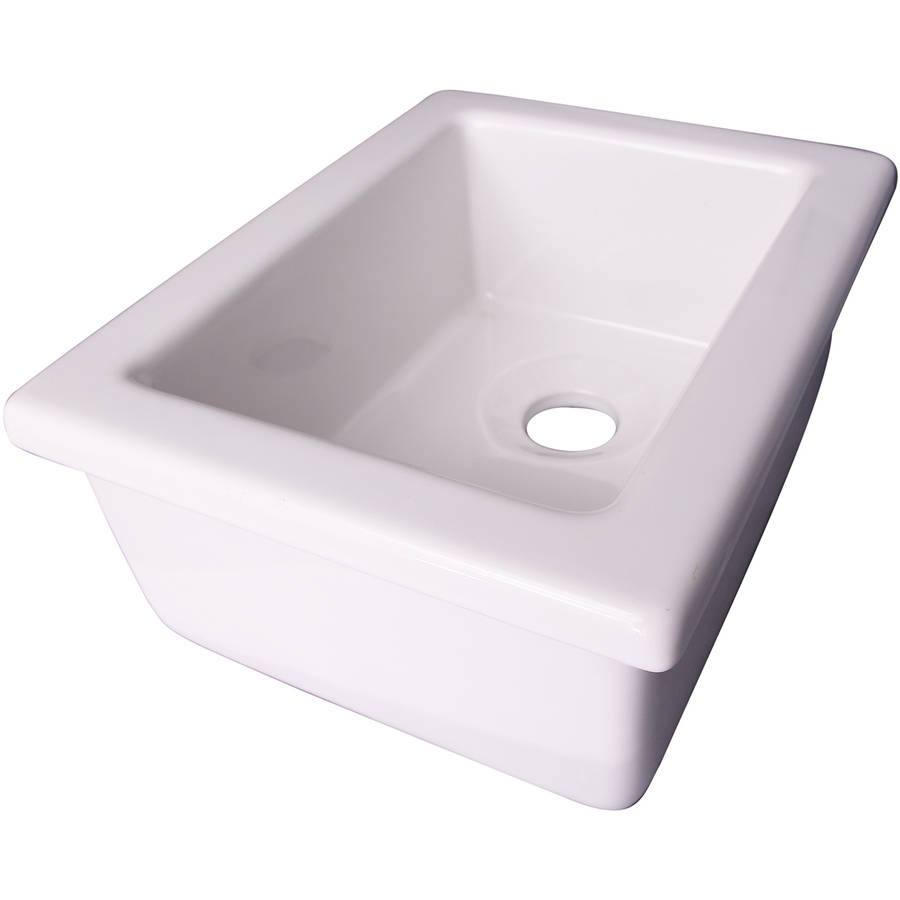 decor plumbing 14 fireclay utility sink white walmart com