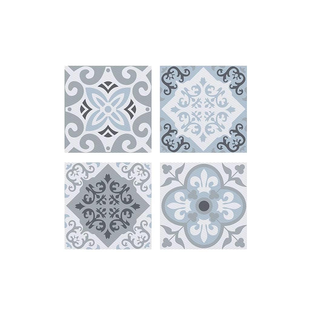 fashionhome 4pcs self adhesive wall tile stickers peel stick tile decals bathroom kitchen backsplash sticker