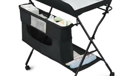 Gymax Baby Changing Table Portable Newborn Nursery Organizer Adjustable Height W Wheel Walmart Com Walmart Com