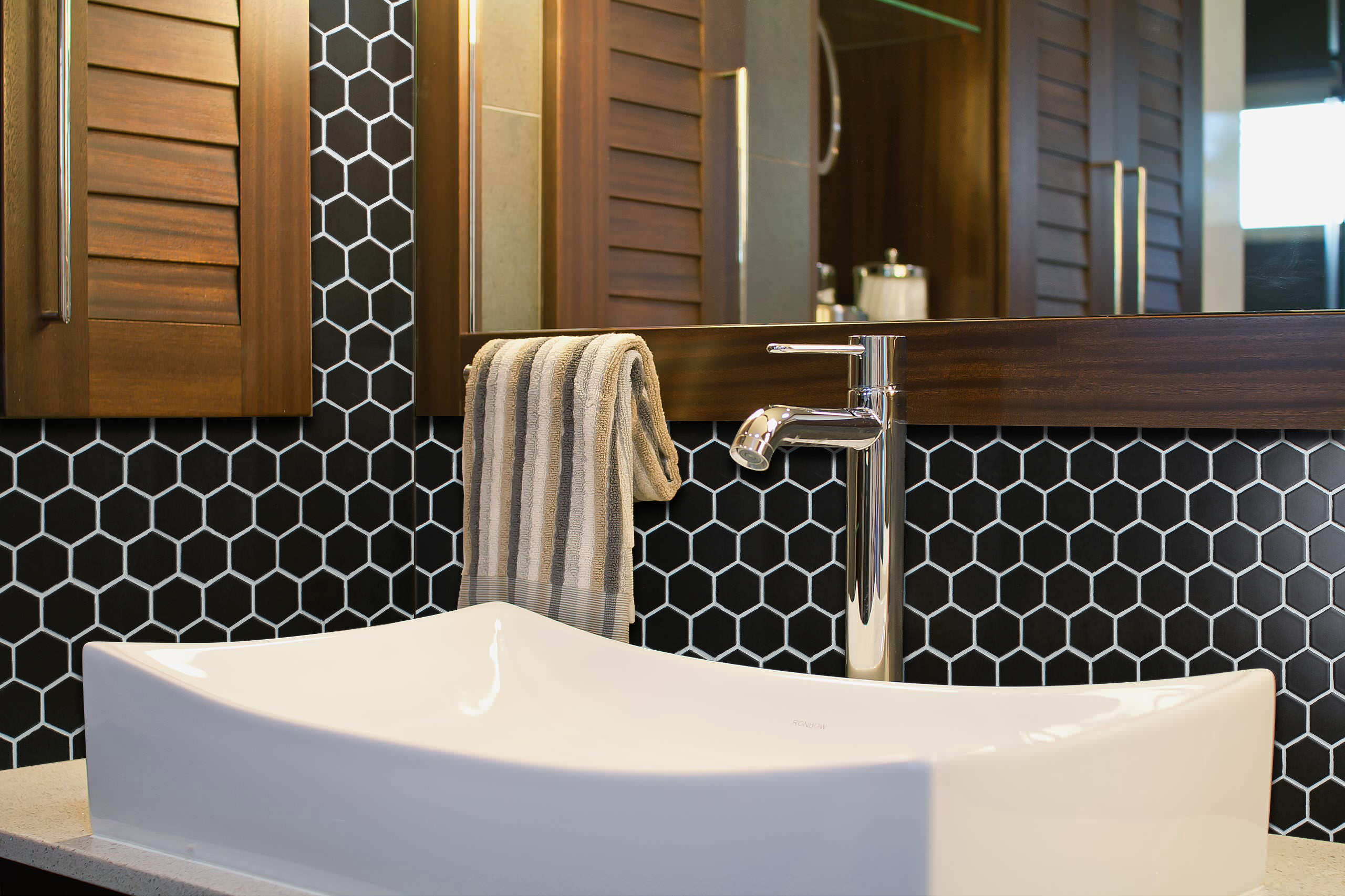 ws tiles value matte black 11 8 in x 10 2 in porcelain 1 hexagon mosaic floor wall tile 9 sq ft case