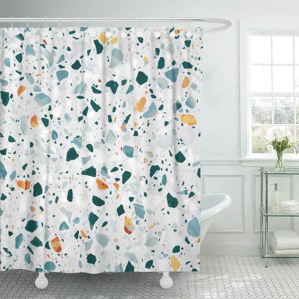 cynlon terrazzo flooring in bright colors of classic italian floor bathroom decor bath shower curtain 60x72 inch walmart com