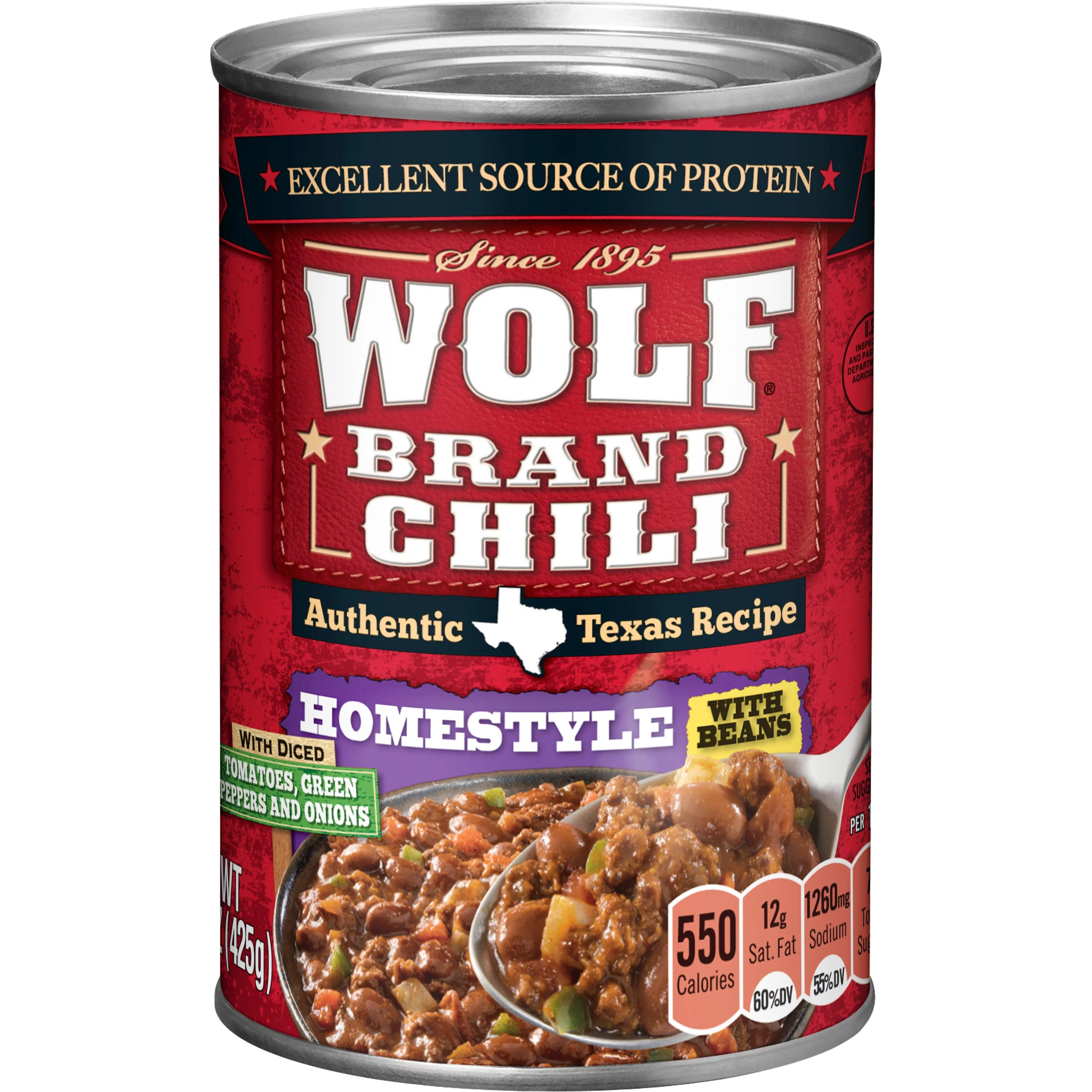 WOLF BRAND Spicy Chili With Beans Zesty Green Chilies