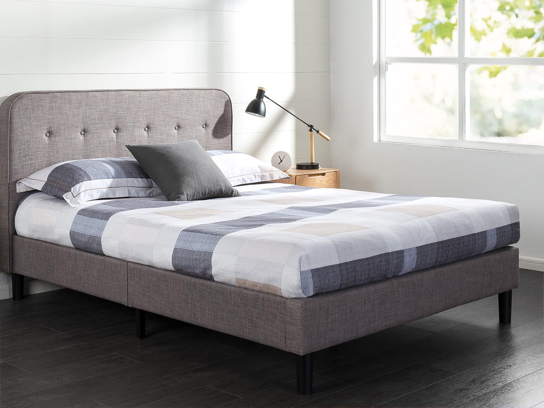 Zinus Melodey 43 Upholstered Platform Bed Frame Queen Walmart Com Walmart Com