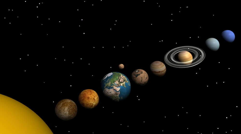 All planets of the solar system Mercury Venus Earth Mars ...