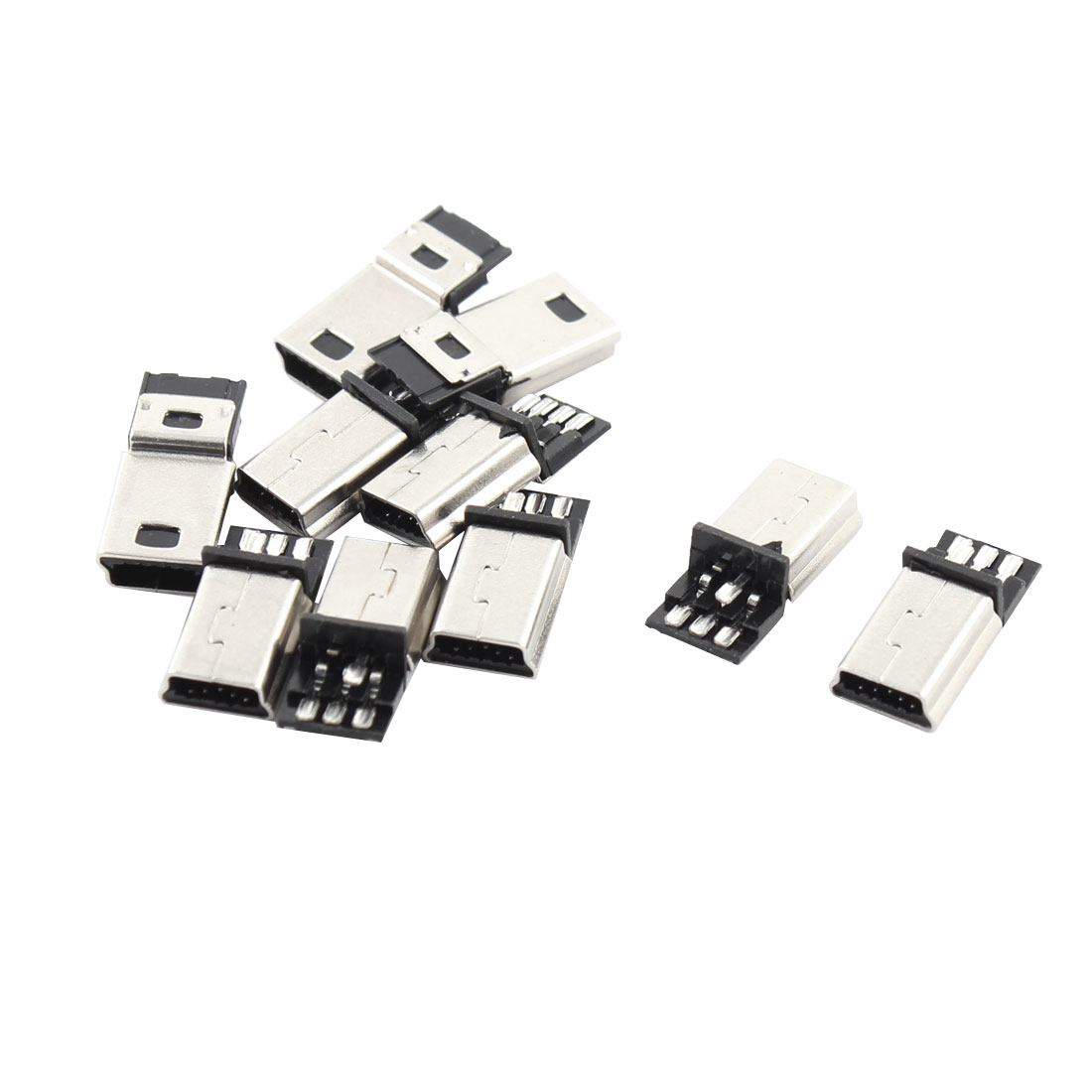 10 Pcs Usb 5 Pin B Male Connector Port Solder Plug