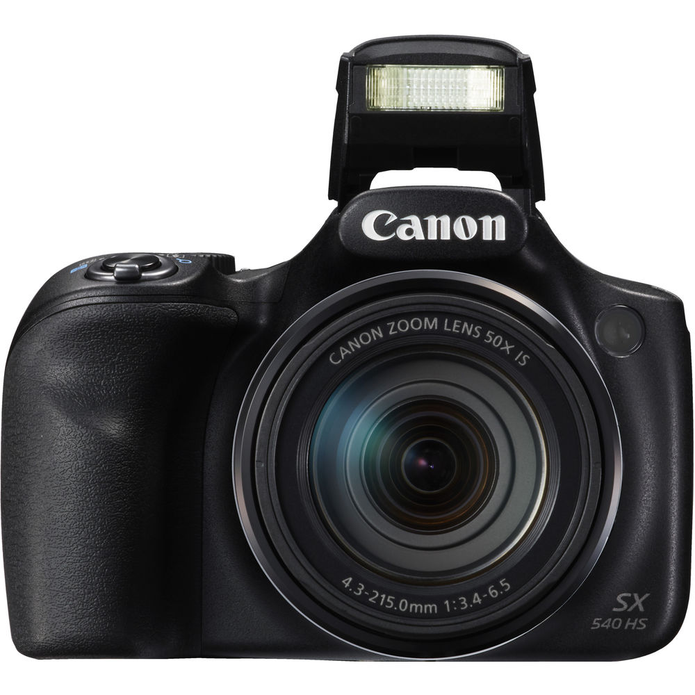 Canon PowerShot SX540 Digital Camera w/ 50x Optical Zoom - Wi-Fi & NFC Enabled (Black)