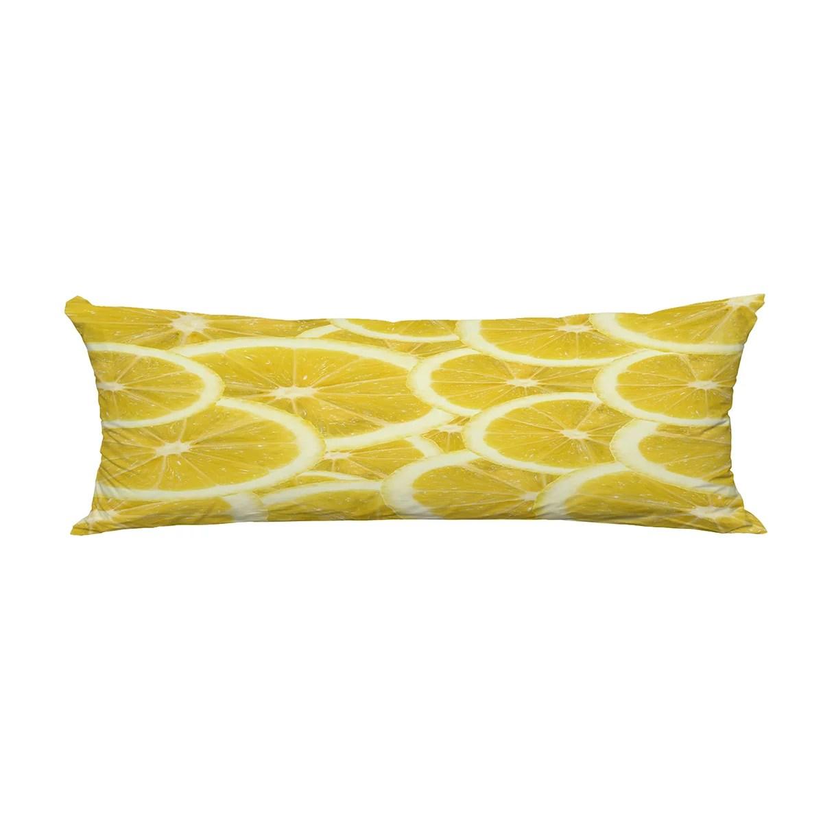 abphqto fresh yellow lemon body pillow covers pillow case protector pillowcase 20x60 inch