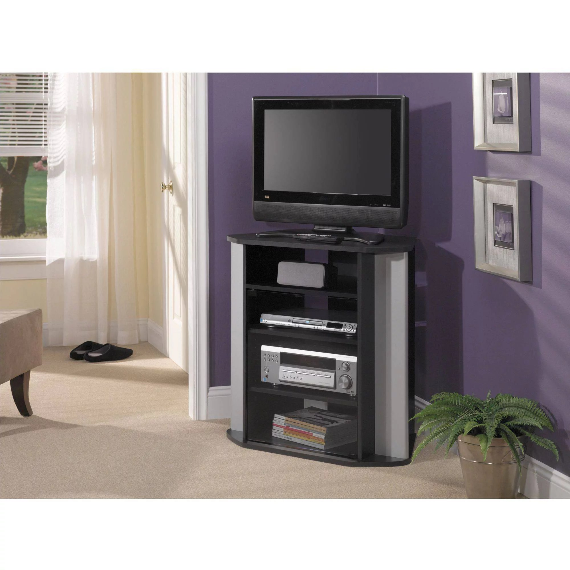 bush visions black tall corner tv stand, for tvs up to 37