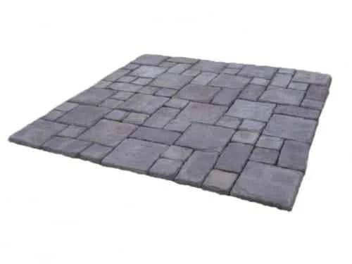 cass stone gray concrete patio on a pallet paver kit