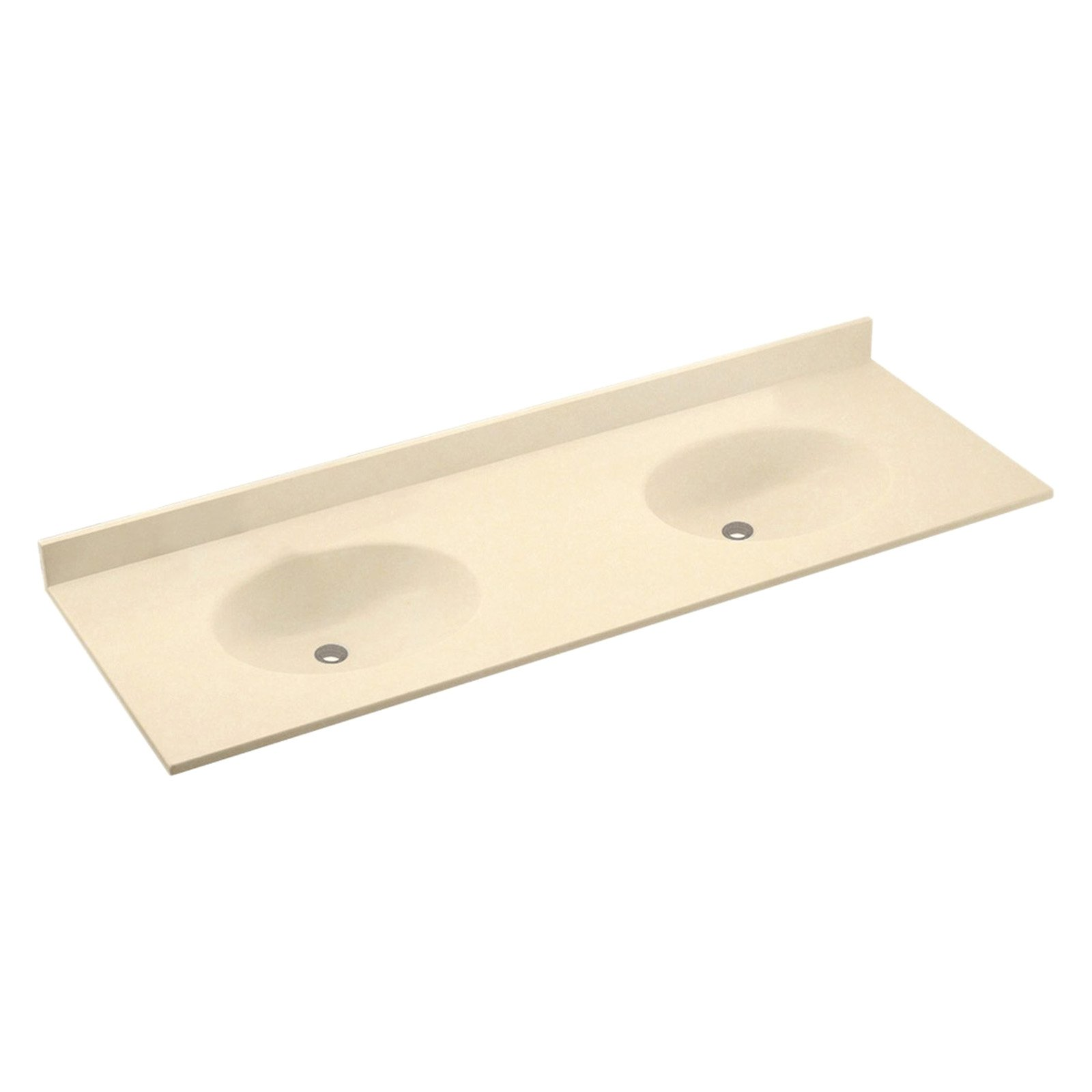 swanstone 73w x 22 5d in chesapeake solid surface double sink vanity top