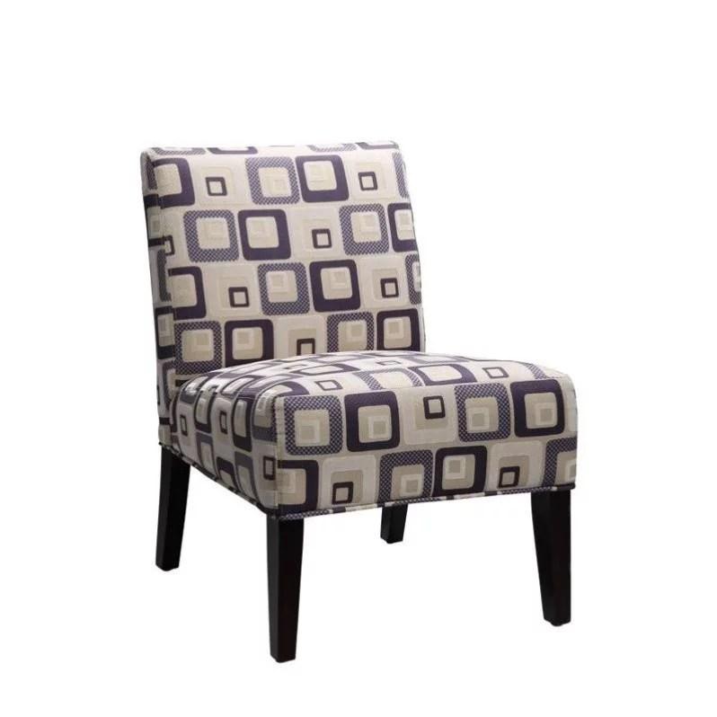 Armless Blue Accent Chair