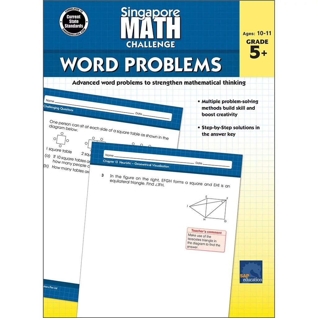 Singapore Math Challenge Word Problems Grades 5