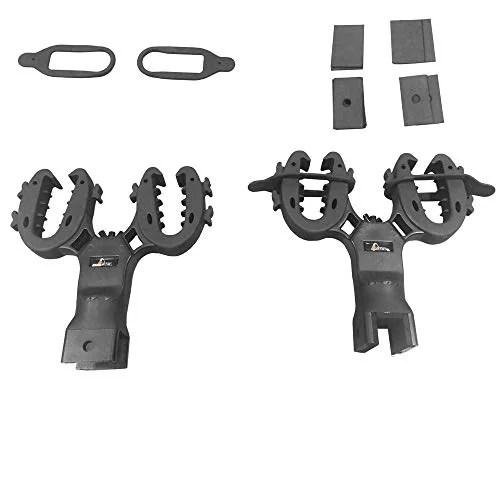 gtw universal dual gun rack for golf carts and utv