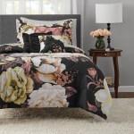 Mainstays Black Floral 8 Piece Bed In A Bag Bedding Set W Sheet Set Twin Twin Xl Walmart Com Walmart Com