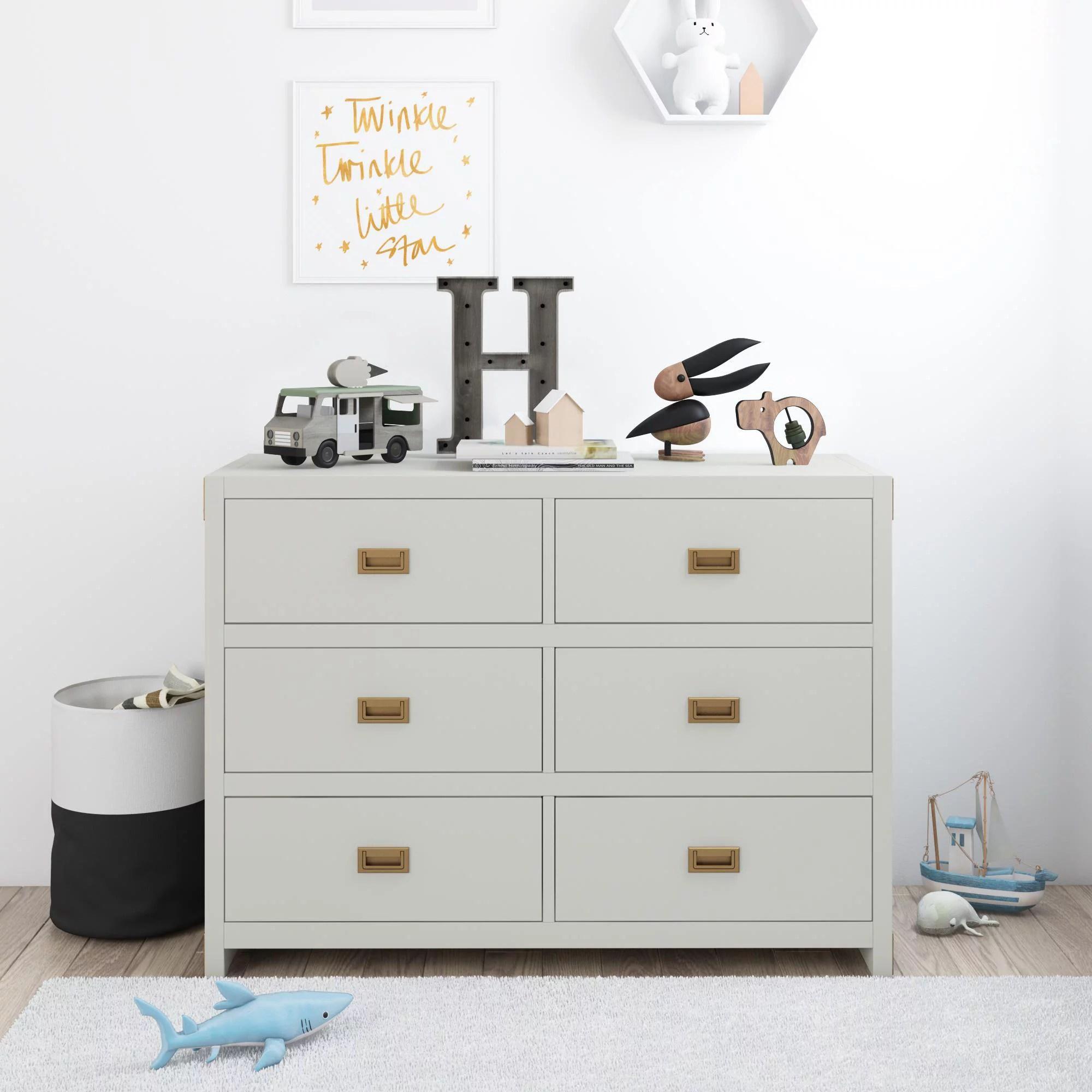 baby relax miles 6 drawer dresser nursery furniture graphite grey