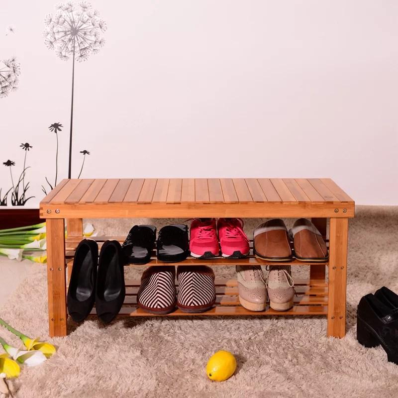 bench seat shoe bench natural bamboo bear 551 lbs shoe rack entryway shoe storage household shelf shoe bench shoe bench rack with 35 43 x 11 02 x