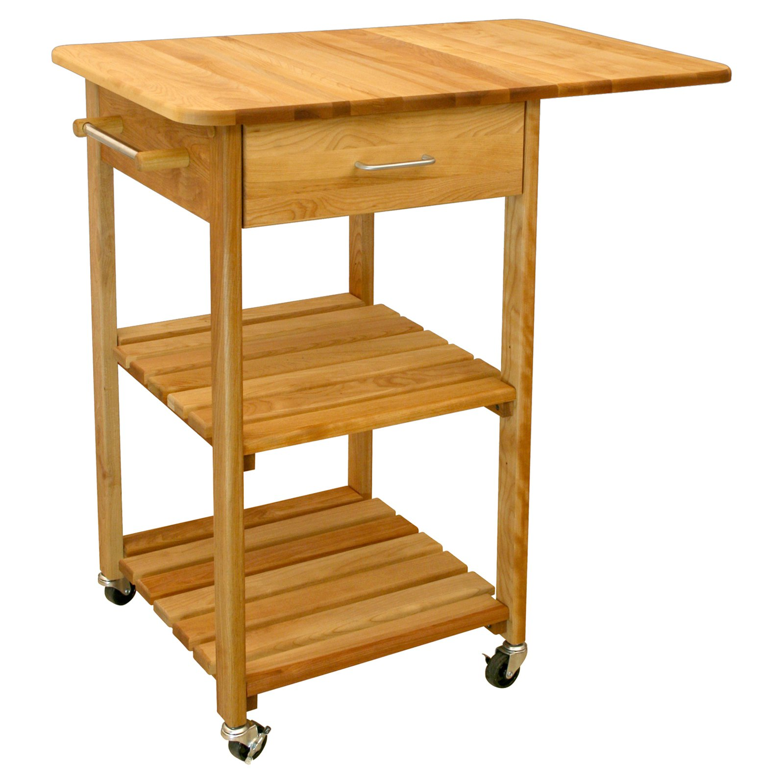 aspen butcher block kitchen cart walmart com