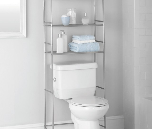 Mainstays  Shelf Bathroome Saver With Liner Satin Nickel Finish