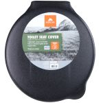 Ozark Trail Portable Outdoor Snap On Toilet Seat Cover With Folding Lid Black Walmart Com Walmart Com