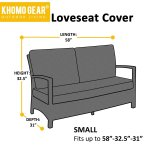 Love Seat Cover Weatherproof Outdoor Patio Sofa Protector Small Grey Walmart Com Walmart Com