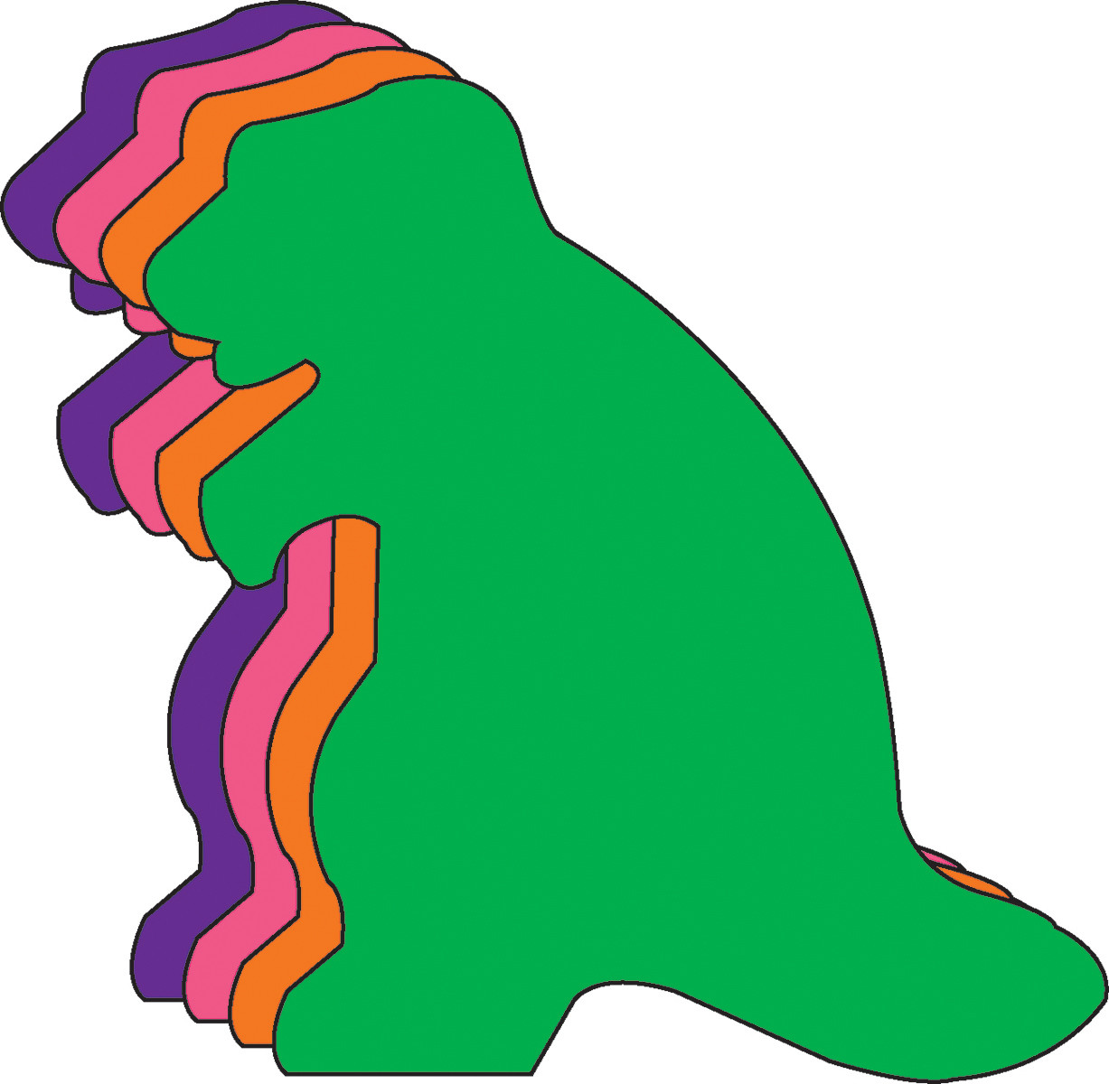 Small Assorted Color Dinosaur Cut Outs Se 579