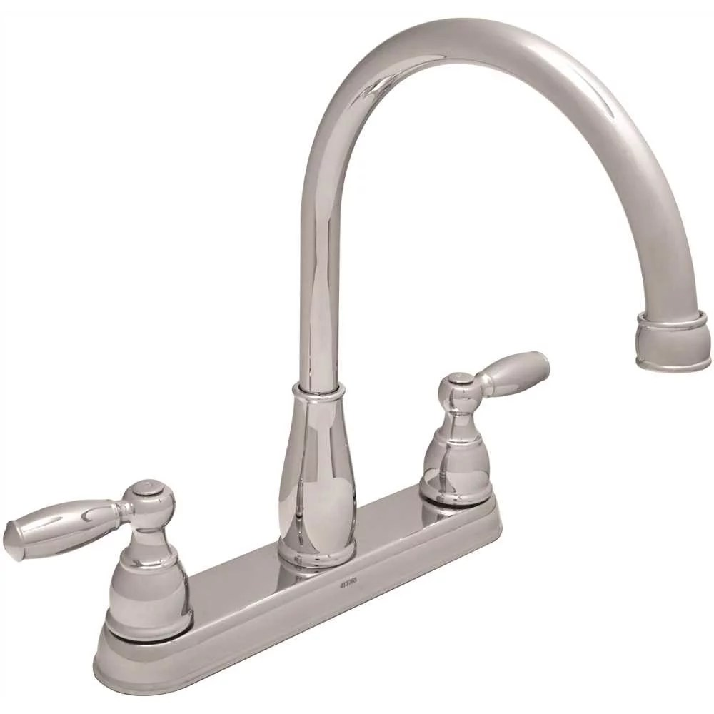delta foundations 2 handle standard kitchen faucet in chrome