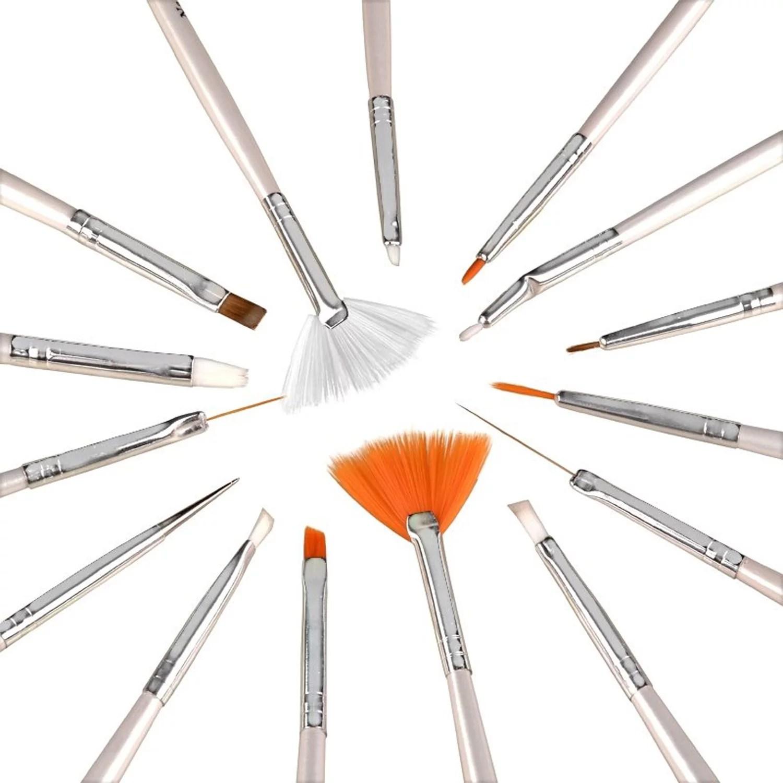 Zodaca 20pcs Pack Nail Art Design Set Dotting Painting Drawing Polish Brush Pen Tools Silver Walmart