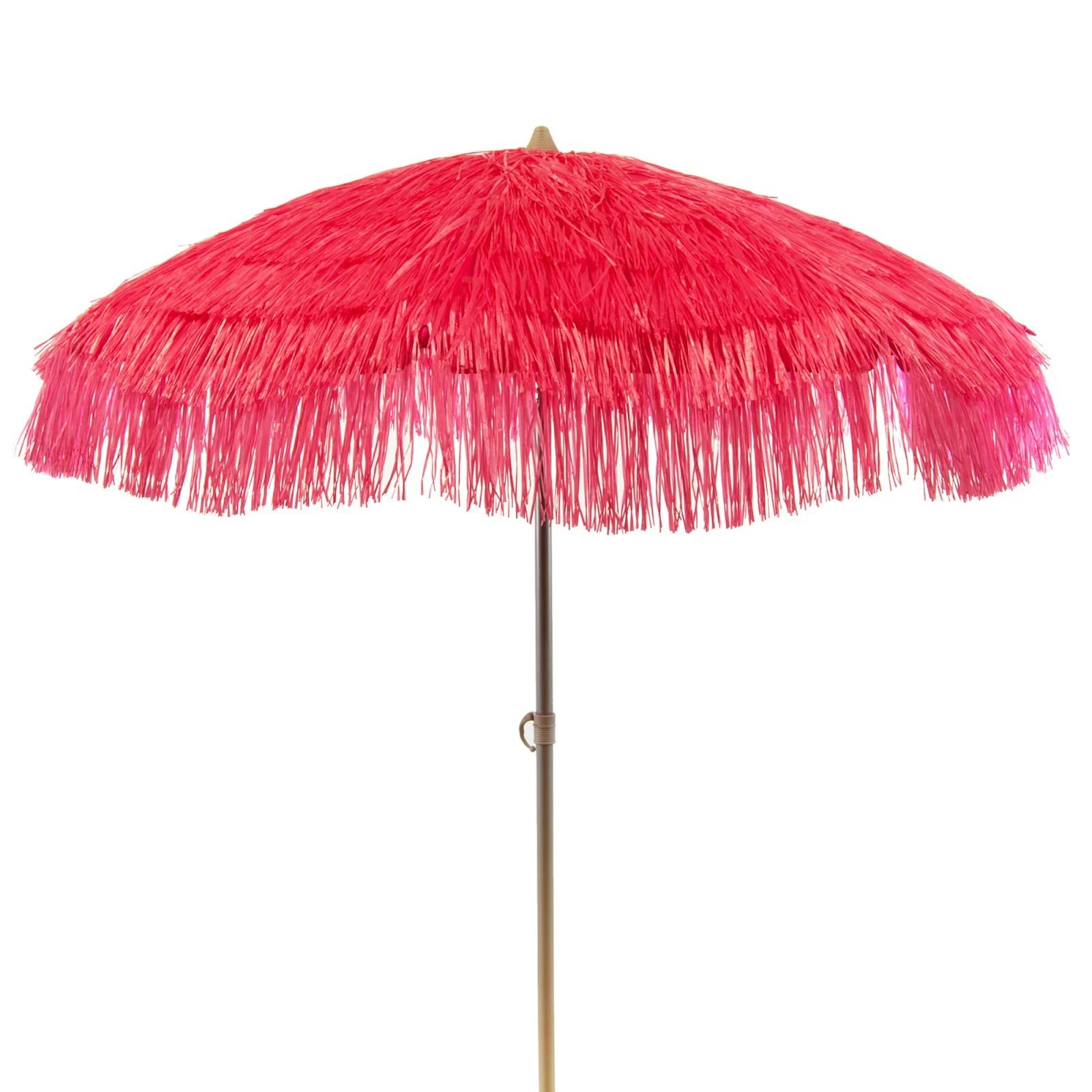 palapa tiki party umbrella patio tilt home canopy sun shield 6ft pink walmart com