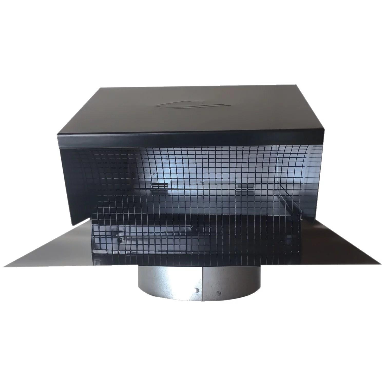 builders best 012633 black metal roof vent cap 6 collar
