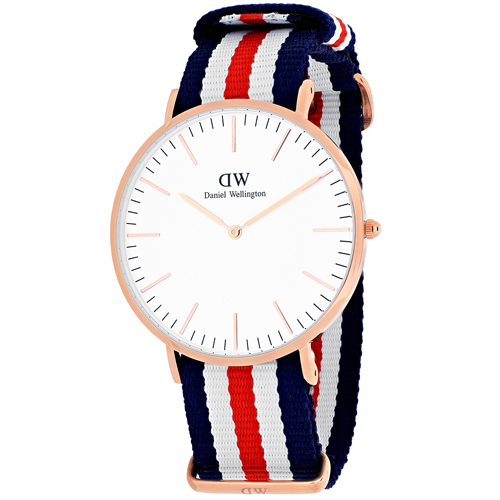 Daniel Wellington Men's Canterbury 0102DW Multi Nylon Quartz Fashion Watch