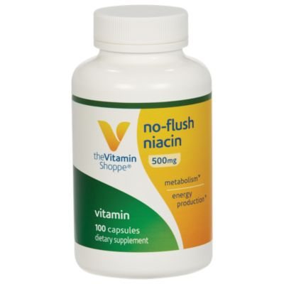 The Vitamin Shoppe No Flush Niacin 500MG, Supports ...