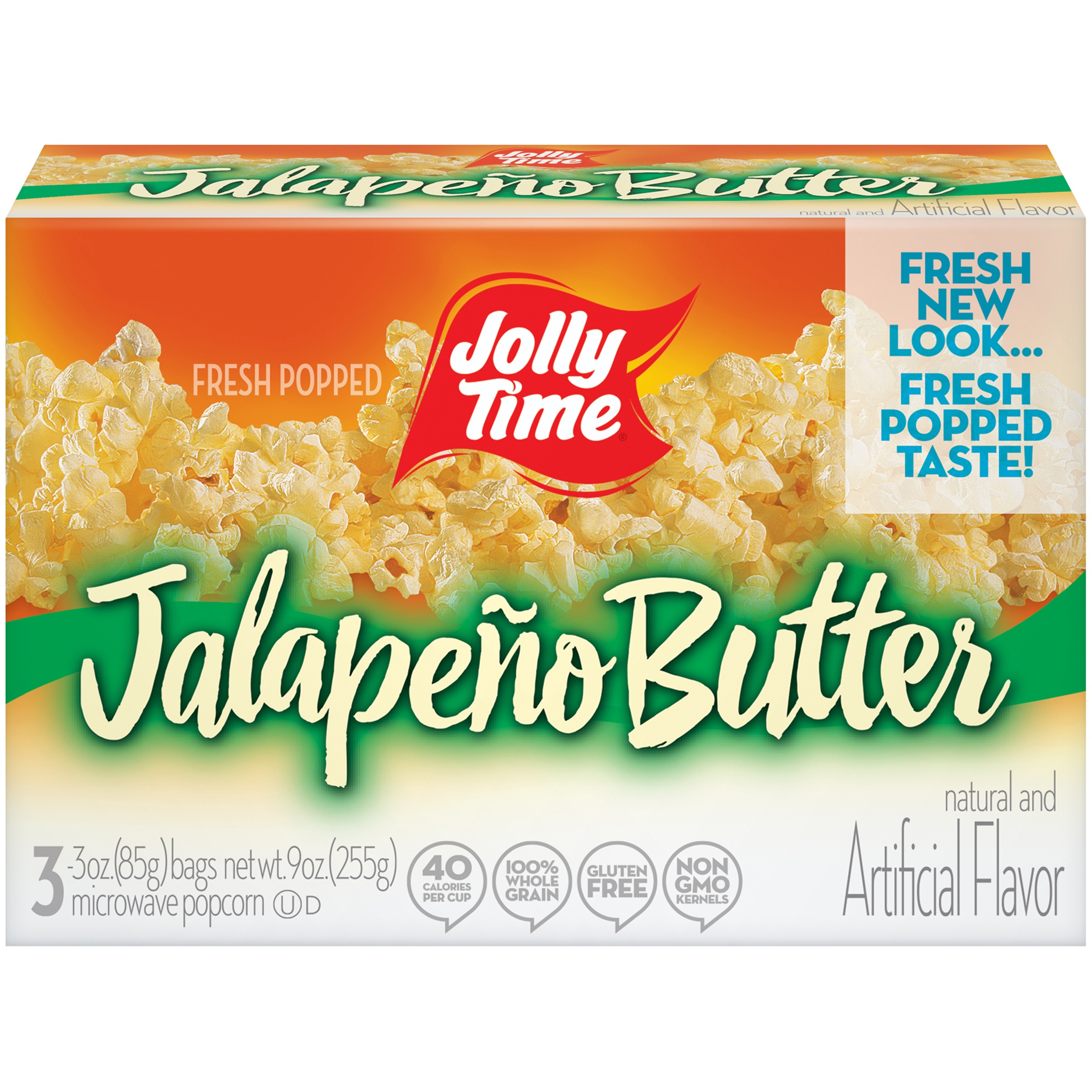 jolly time jalapeno butter microwave popcorn bags 3 oz 3 count