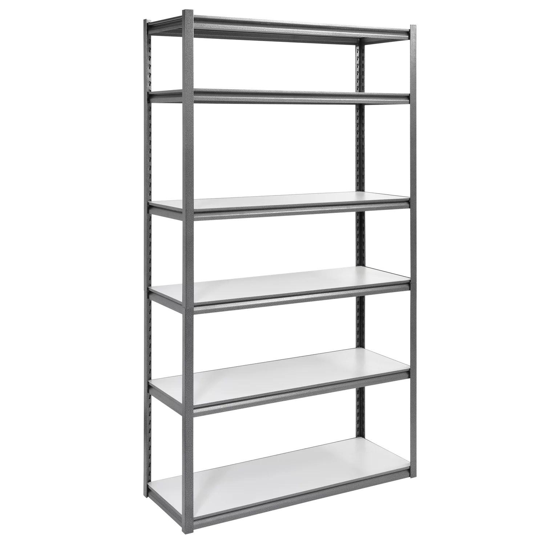 muscle rack 48 w x 18 d x 84 h 6 shelf steel shelving unit 3000 lb capacity silver vein
