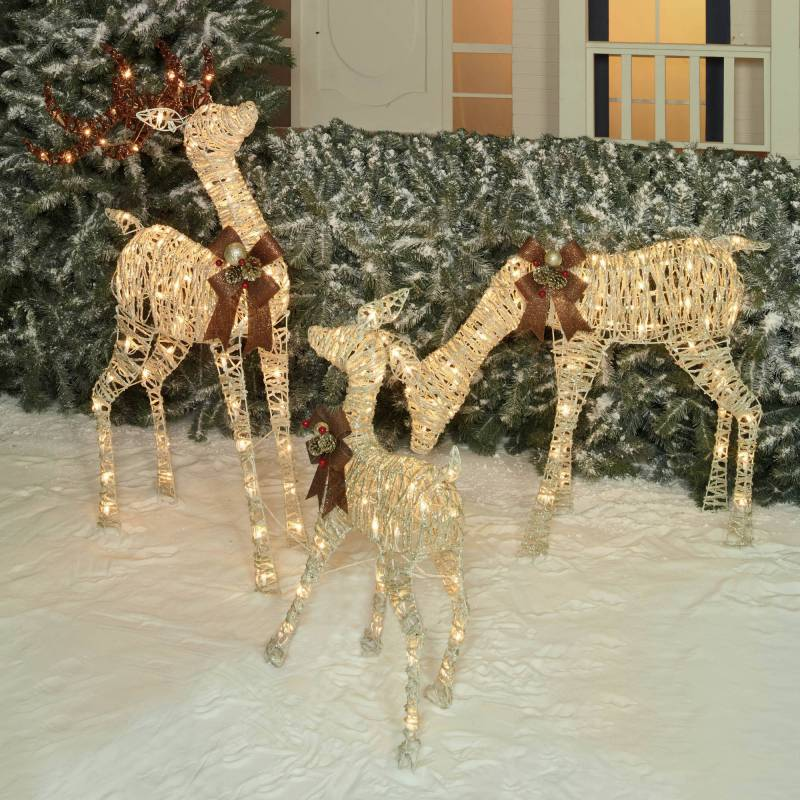 Holiday Time Christmas Decor Set Of 3