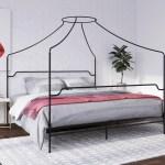 Novogratz Camilla Metal Canopy Bed King Size Frame Black Walmart Com Walmart Com
