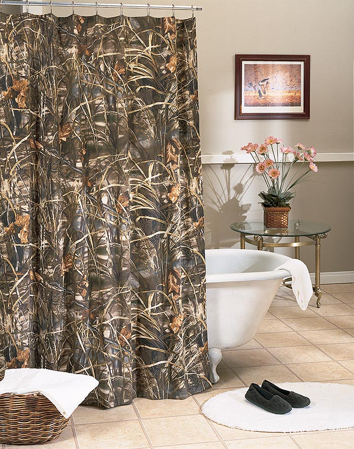 realtree max 4 camouflage shower curtain