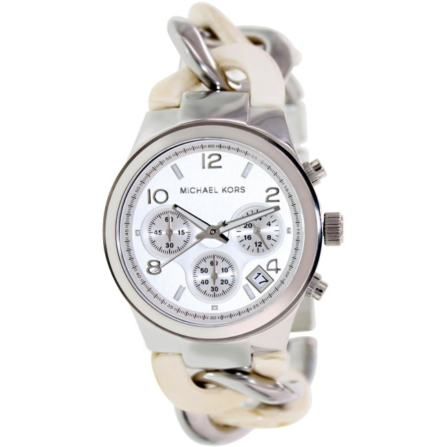 Michael Kors Women's Runway MK4263 Silver Stainless-Steel Quartz Fashion Watch