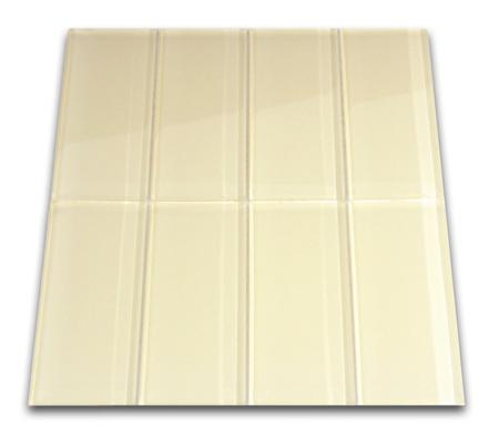 cream glass subway tile