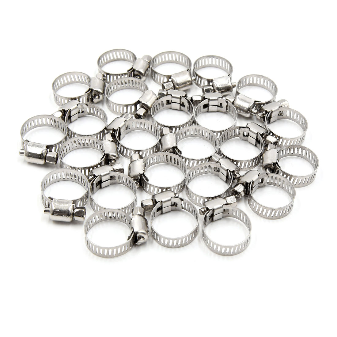 24pcs 13 19mm Stainless Steel Car Vehicle Drive Hose Clamp